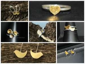 Nouvelle collection de bijoux en argent avec des éléments plaqués or